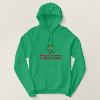 Embroidered Frog on Sweats and Tshirts