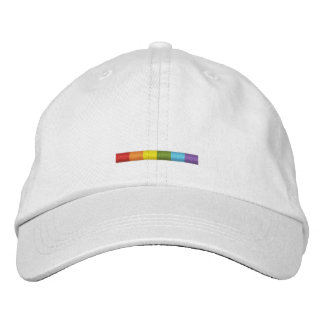 Embroidered Gay Pride bar cap (subtle stripe) Embroidered Hat
