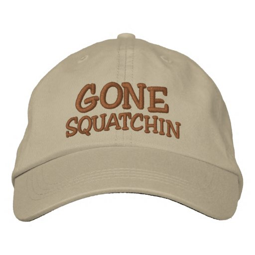 Embroidered GONE SQUATCHIN Hat - *BOBO* Edition Baseball Cap