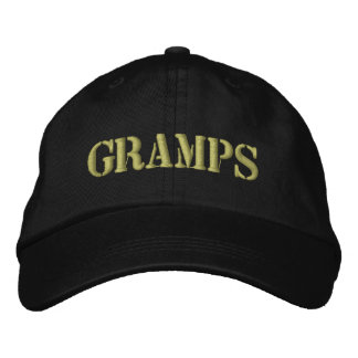 Embroidered Grandpa GRAMPS Hat Gift Embroidered Baseball Cap
