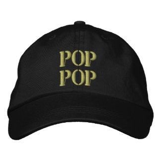 Embroidered Grandpa Pop Pop Hat Gift Embroidered Baseball Caps