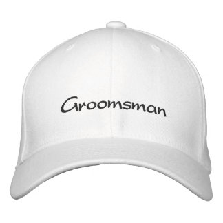 EMBROIDERED GROOM WEDDING CAP EMBROIDERED HATS