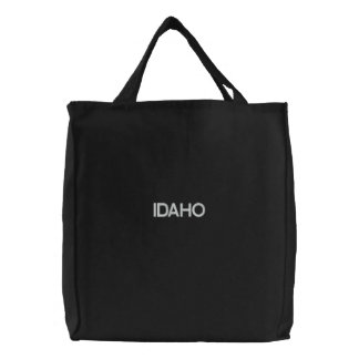 Embroidered Idaho Tote Black Bag