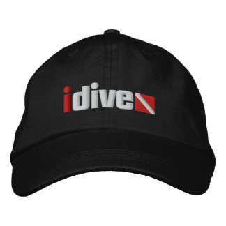 Embroidered idive Adjustable Hat