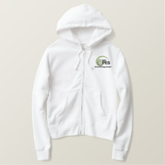 Embroidered IEEE PES Ladies Zip Embroidered Hoodie