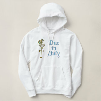 Embroidered July Maternity Hoodie