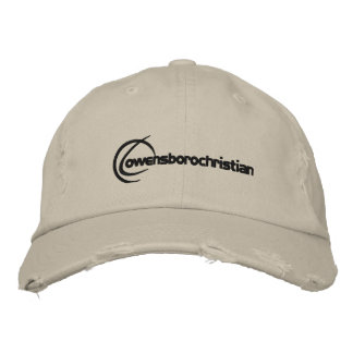 Embroidered Logo Hat Brown Embroidered Cap
