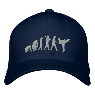 Embroidered martial artists karate cap
