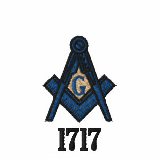 Embroidered Masonic Polo w 1717 Date