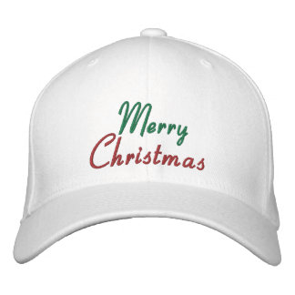 Embroidered Merry Christmas Cap Embroidered Baseball Cap
