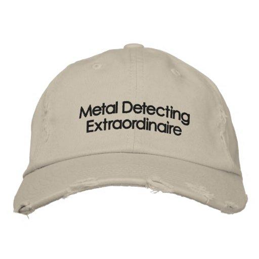 Embroidered Metal Detecting Hat Baseball Cap