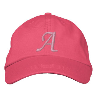 Embroidered Monogram Hat