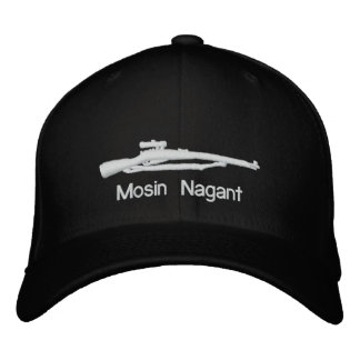 Embroidered Mosin Nagant Black Fitted Hat Embroidered Baseball Cap