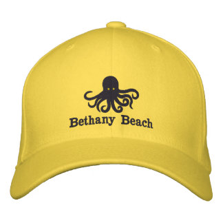 Embroidered Octopus Beach Hat