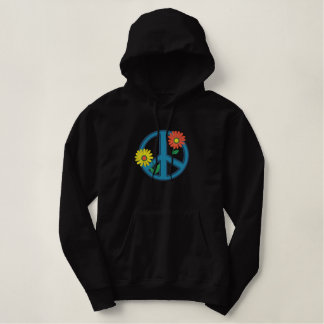 Embroidered Peace Symbol Jacket or Hoodie