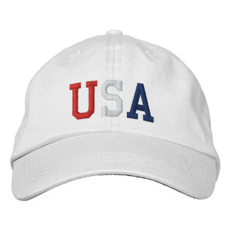 Embroidered Red White and Blue USA Sports Hat Embroidered Baseball Cap