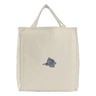 Embroidered Singing Rat Tote
