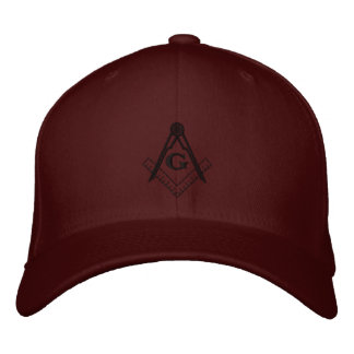 Embroidered Square and Compass Ballcap Embroidered Baseball Caps