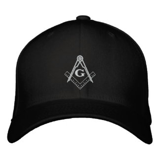 Embroidered Square and Compass Ballcap Embroidered Hats