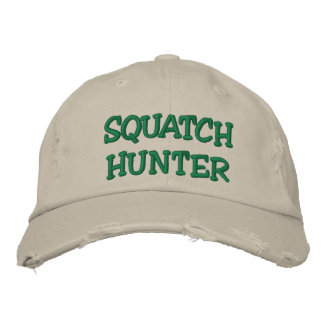 Embroidered SQUATCH HUNTER Hat - BOBO Edition Embroidered Baseball Caps