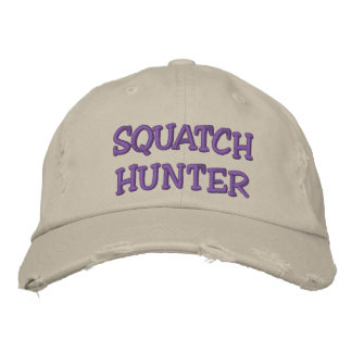 Embroidered SQUATCH HUNTER Hat - BOBO Edition Embroidered Baseball Cap