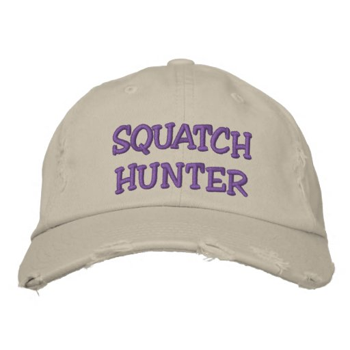 Embroidered SQUATCH HUNTER Hat - *BOBO* Edition Embroidered Baseball Cap