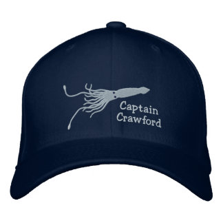 Embroidered Squid Captain''s Hat Baseball Cap