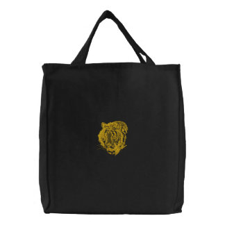 Embroidered Tiger Tote