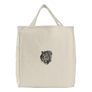 Embroidered Tiger Tote Embroidered Tote Bag