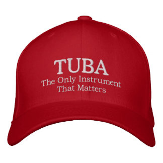 Embroidered Tuba Hat With Instrument Quote Embroidered Baseball Caps