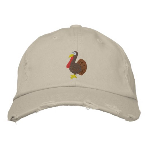 Embroidered Turkey Hat Baseball Cap