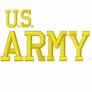 EMBROIDERED U.S. ARMY FLEECE ZIP JOGGER JACKET