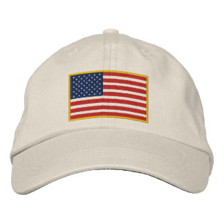 Embroidered USA Flag Hat Embroidered Baseball Cap