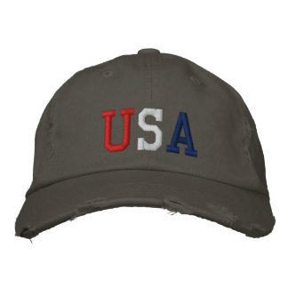 Embroidered USA Sports Hat Embroidered Baseball Cap