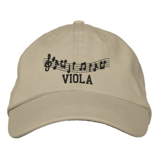 Embroidered Viola Music Cap Embroidered Hats