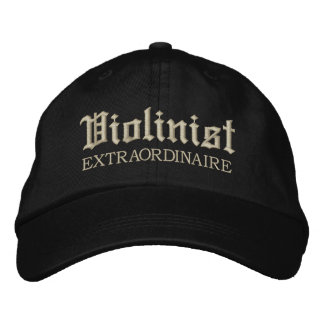 Embroidered Violinist Extraordinaire Music Cap