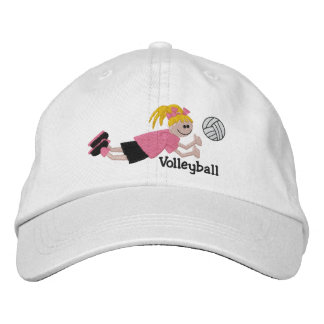 Embroidered Volleyball Cap Embroidered Baseball Cap