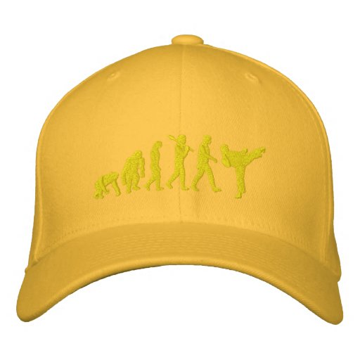 Embroidered Yellow belt Karate Martial Artists Cap Embroidered Baseball Caps