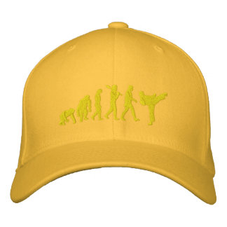 Embroidered Yellow belt Karate Martial Artists Cap Embroidered Hats