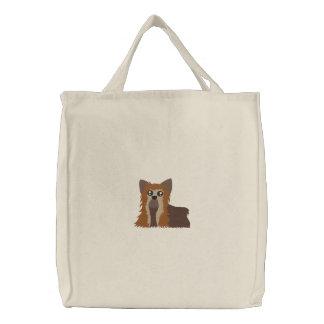 Embroidered Yorkie Bag