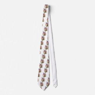 embroiderey peacock tie