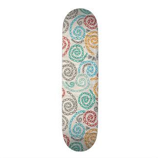 Embroidery fancy rumpled paper custom skate board