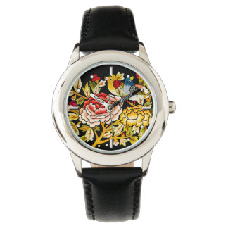 embroidery Hand made flower Watch