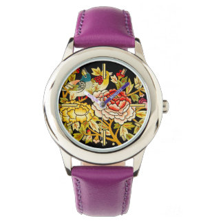 embroidery Hand made flower Wrist Watches