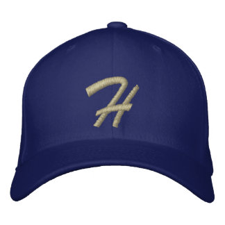 Embroidery Monogram Letter H Initial Embroidered Hat