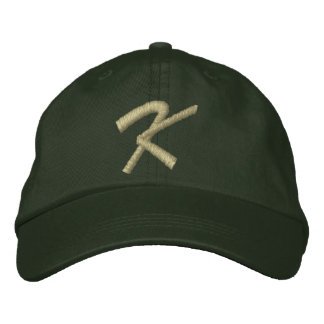Embroidery Monogram Letter K Initial Embroidered Baseball Caps