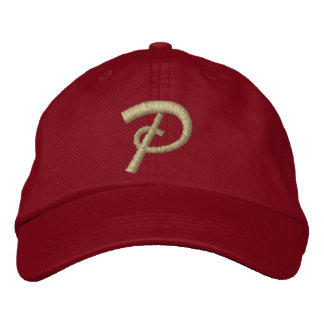 Embroidery Monogram Letter P Initial Embroidered Cap