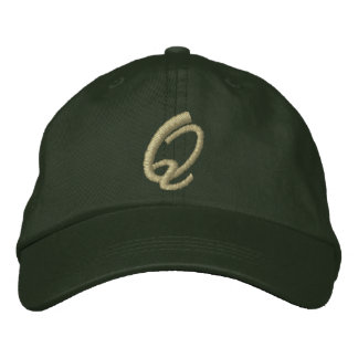 Embroidery Monogram Letter Q Initial Embroidered Cap