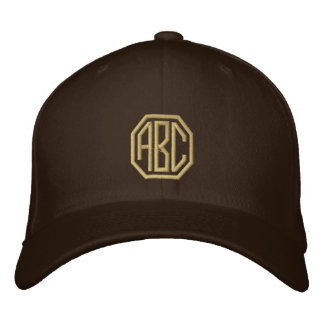 Embroidery Monogram Personalized Initials Embroidered Hat