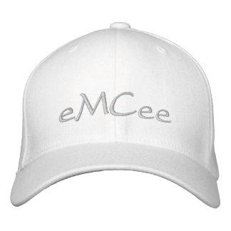 eMCee White Hat Embroidered Baseball Cap
